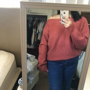 Forever 21 Sweaters - Off the shoulder terracotta sweater